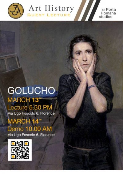 Golucho will be giving a Lecture this Friday at Florence Academy of Art
