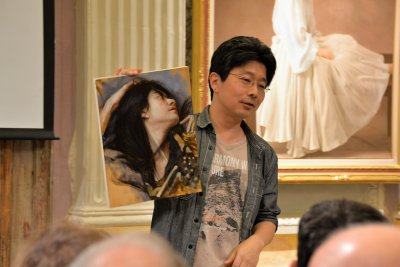 Painting workshop with japanese artist Osamu Obi